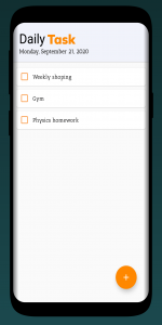 Daily Task Android App
